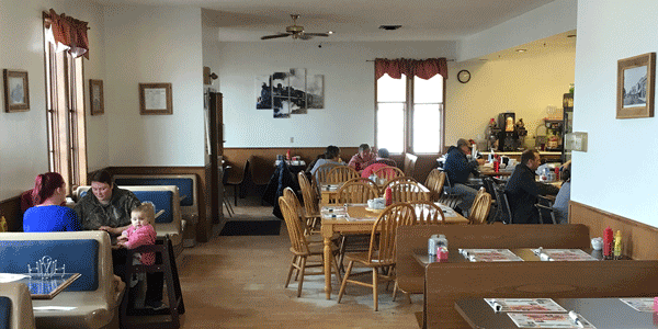 Inside Friedericks Family Restaurant in Fennimore, WI.